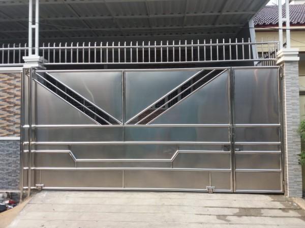 Pintu pagar stainless